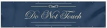 Do Not Touch 8x2 Classic Navy Heavy-Duty Outdoor Vinyl Banner CGSignLab