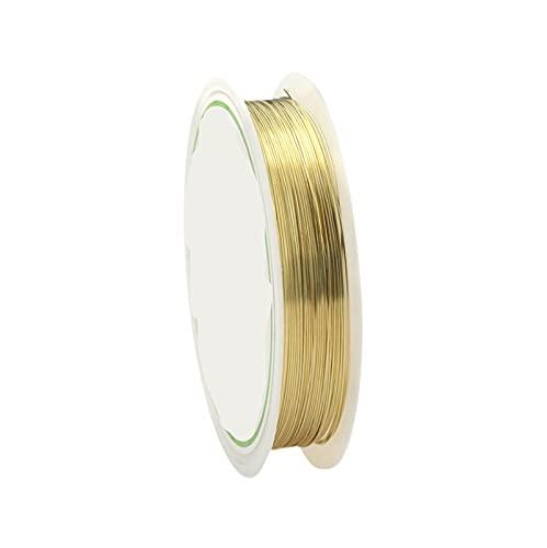 YJDLC Alambre de Cuentas de Cobre Alambre de Cobre de 0.2-1mm para Collar de Pulsera DIY Colorfast Beading Wire Beyry Cadena para la fabricación de artesanía Plástico/Flexible