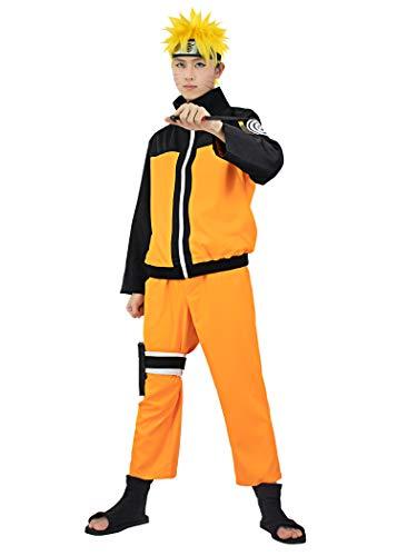 DAZCOS US Size Adult Anime Uzumaki Cosplay Costume (Medium) Orange