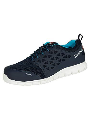 Reebok Work IB131S1P Excel Light Athletic Safety Trainer Schuh Aluminium Toe PR Work Shoe 37 Navy/Teal