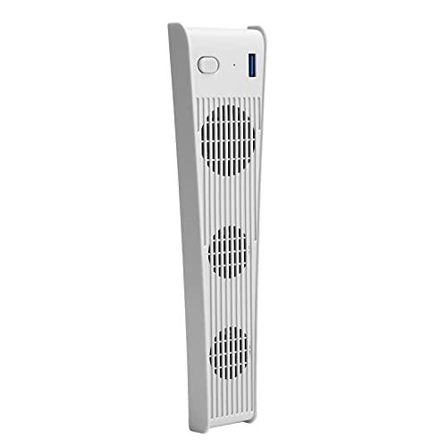 Yctze Ventilador de refrigeración, Enfriador USB con Control de Temperatura, con Material ABS, Host de Juegos PS5 DE/CD-ROM(White)