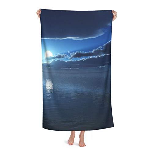 Moon Time s Hd s Toalla de playa de microfibra Toalla de piscina de secado rápido 130x80 cm toalla de viaje de gran tamaño