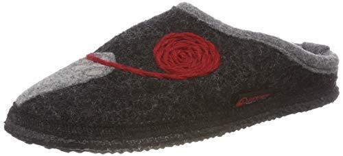 GIESSWEIN Filzpantoffel Nittel - Atmungsaktive Damen Hausschuhe   Winter Slipper aus 100% Wolle   Reine Wollfilz Pantoffeln