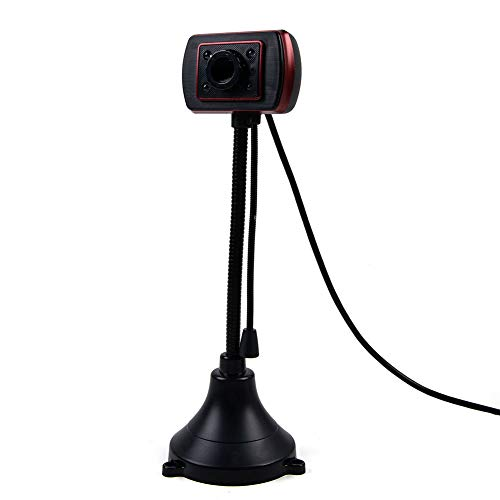 Schimers Webcam, Ultra HD 480P webcam met microfoon, USB PC webcam, gaming computer camera voor live streaming, gaming, gesprekken en conferenties, geïntegreerde microfoon en webcam cover, video