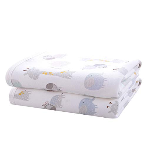 Large Baby Diaper Changing Pad Liners Soft Cotton Bamboo Waterproof Changing Pad for Baby Underpads Mattress Pad Sheet Protector Portable Reusable Urine Pad for Travel Gear 27.5X37.5 inches-2 Pack
