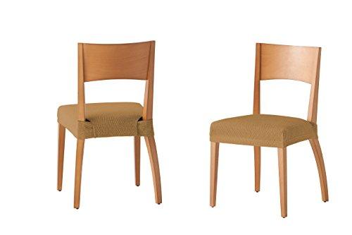 Martina Home Tunez - Funda para Silla, Tela, Funda silla asiento, Vison, 24 x 30 x 6 cm, 2 Unidades