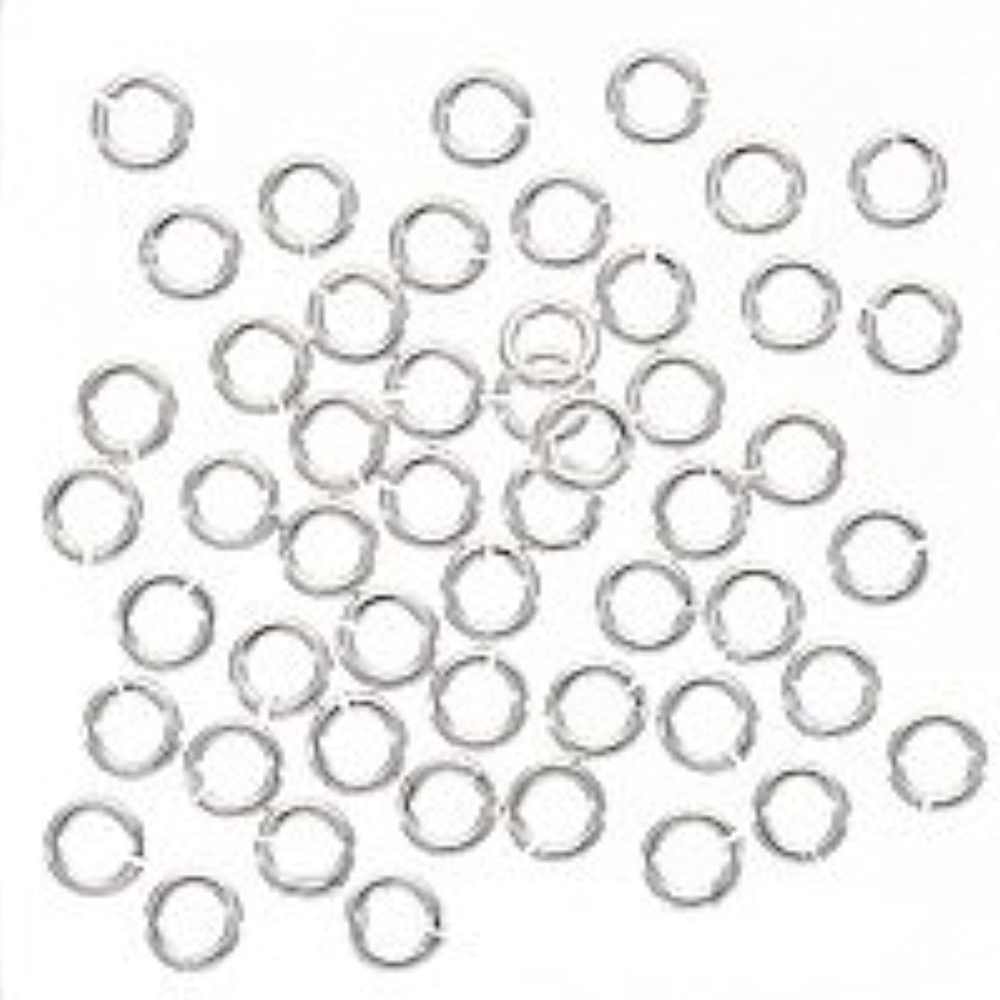 UnCommon Artistry SS/JR20/O/4 Sterling Silver Open Jump Rings 4mm Heavy 20 Gauge (50)