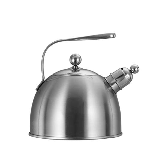 2.3L Ergonomic Handle Whistling Tea Kettle,Food Grade Stainless Steel Stove Teapot