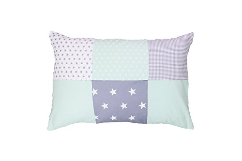 ULLENBOOM ® kussensloop voor kussens voor baby's l 40x60 cm l met ritssluiting l hoes ook geschikt voor sierkussens I mint grijs