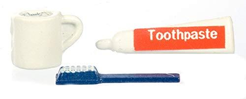 Brosse à Dents & Gobelet Miniature Accessoire Maison De Poupées