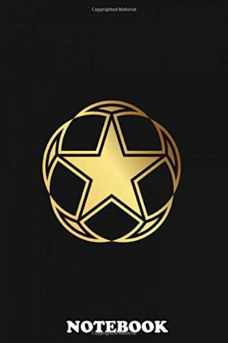 Notebook: Clean Star Ball Illustration , Journal for...