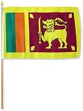 Sri Lanka Stick Flag (Set of 12 High Quality Polyester Stick Flags)
