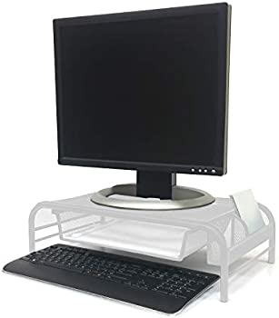 Mind Reader Mesh Monitor Stand With Drawer