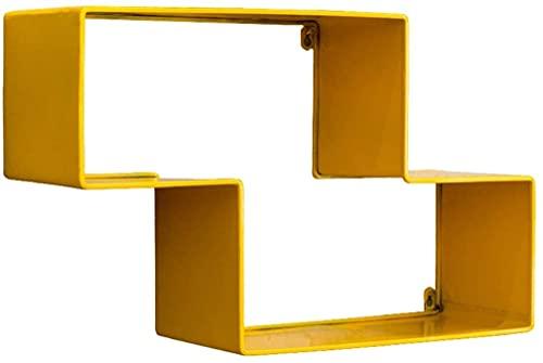 FVDS Estante Flotante de Pared geométrica, Estante Moderno, estantería de Tetris de Tetris CD DVD Juguete Montado en la Pared Almacenamiento de la Pared Organizador de estantes (Color : Yellow)
