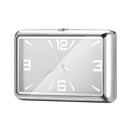 Konesky Auto Armaturenbrett Uhr, Automobil Universalfahrzeug Uhr Verzierungen Rechteck Analog Quarz Stil Tischuhr Innenausstattung
