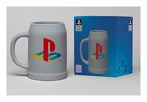 Playstation Classic Unisex Bierkrug Mehrfarbig Keramik Fan-Merch, Gaming, Retrogaming