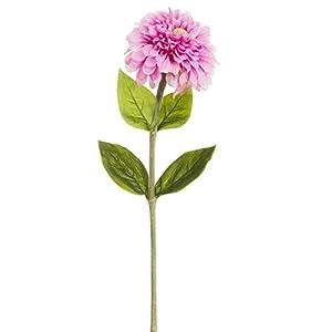 29″ Zinnia Silk Flower Stem -Pink (Pack of 12)