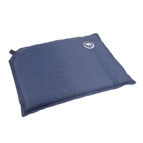 perfk Aufblasbares Kissen Leichtes Luftkissen selbstaufblasbares Kissen Camping Kissen, Tragbar und Wasserdicht - Blau