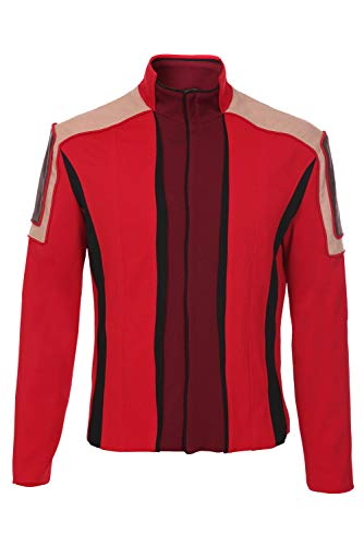BIGCOS Mens Dr.Eggman Cosplay Costume Deluxe Jacket Red Coat Uniform Halloween Outfit Unisex, XX-Large