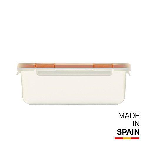 Valira Porta alimentos - Contenedor hermético de 0,75 L hecho en España, color blanco