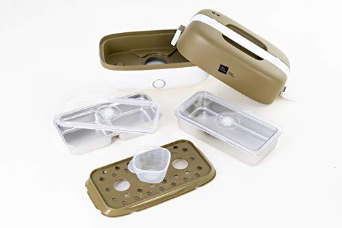 Miji Cookingbox One (1 Liter, 250 Watt) - mobiler Mini Dampfgarer & elektrische Lunchbox, ideal als Reiskocher und zum Garen von Gemüse - sehr leicht, platzsparend & geruchsfrei