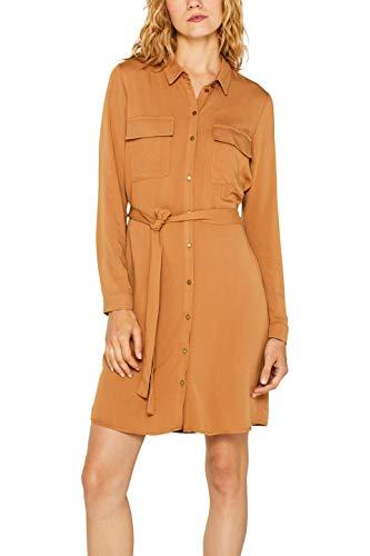 ESPRIT Damen 089EE1E035 Kleid, Braun (Camel 230), (Herstellergröße: 40)