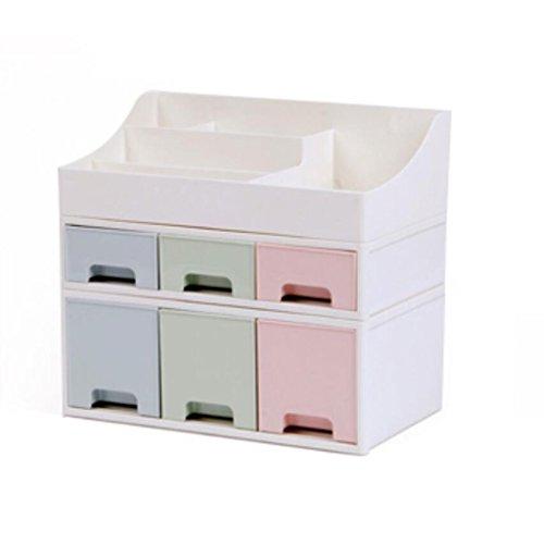 Coffrets de maquillage Type de tiroir Boîte de Rangement cosmétique Commode Bureau cosmétique Soins de la Peau Pinceau de Maquillage Boîte de Rangement Rouge à lèvres (Edition : A)