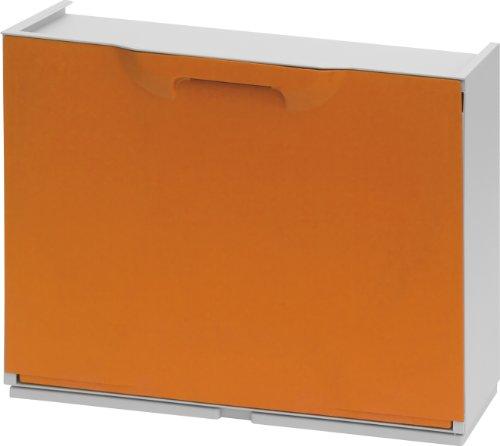 Art Plast UNIKA Zapatero en Polipropileno Color, Naranja/Blanco, 40,1x51x17,3
