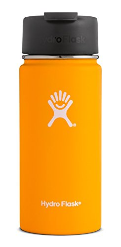 Hydro Flask 12 oz Travel Coffee Flask   Stainless Steel & Vacuum Insulated   Wide Mouth with Hydro Flip Cap   Mango