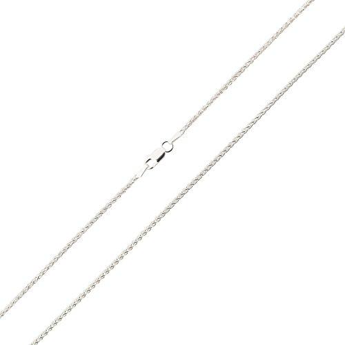 Zopfkette Silberkette Halskette für Damen Herren 925 Sterling Silber Karabinerverschluss 1,9mm; 60cm