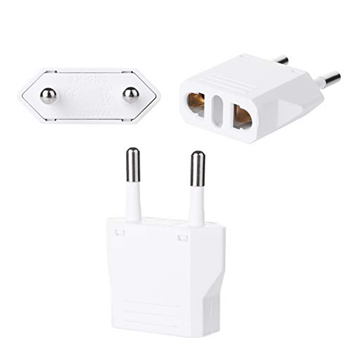 Bates- European Plug Adapter, 3 pc, Travel Adapter, US to Europe Plug Adapter, EU Adapter, Electrical Adapters, Converter Plug, European Outlet Adapter, Travel Plug Adapter, Converter Plug for Europe