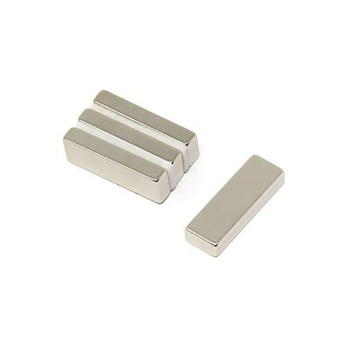 Magnet Expert 30 x 10 x 5 mm d'épaisseur N42 aimant néodyme - 8.1 kg de traction (Paquet de 4)