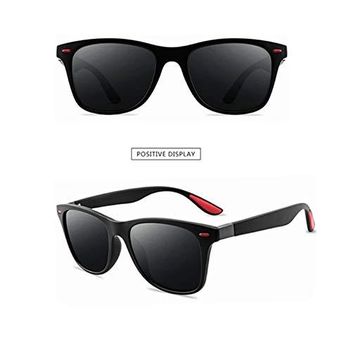 Lucky DuDu Polarizer Pesca Conducción Gafas de Sol Adulto Accesorios de Moda Polarizados Adulto Gafas de Sol Mujeres Mujeres (Color : Bla Frame)