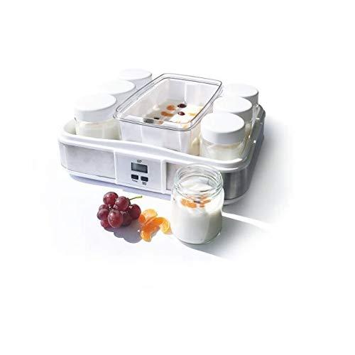 CONTINENTAL EDISON XJ-11101B0 Yaourtiere 12 Pots + 2 Maxi bac - Blanc