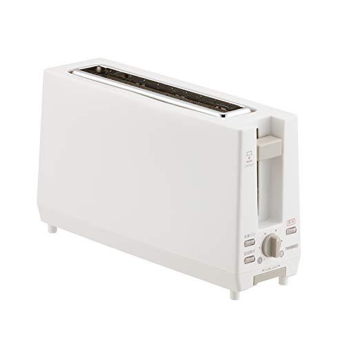 ツインバード スリムポップアップトースター ホワイト TS-D404W