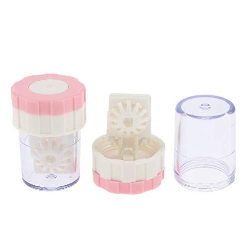 2 Stück Waschmaschine für Kontaktlinsen Reinigungsobjektive Antimikrobieller Kontaktlinsenbehälter Unterlegscheibe