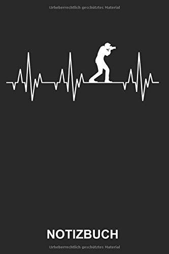 Notizbuch: Fotograf Fotografie Fotografieren Kamera Photograf Foto Photo Lustig Witzig Herzschlag EKG | Notizbuch, Tagebuch, Notizheft, Schreibheft | ... Seiten liniert | Softcover | weißes Papier