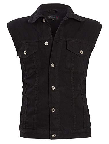 shelikes Heren Klassieke Denim Mouwloos Jas Gilet Waistcoat Bovenkleding Casual Top Vest