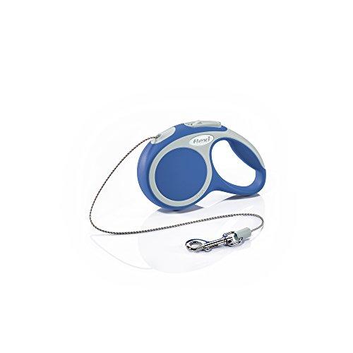 flexi Roll-Leine Vario XS Seil 3 m blau für Hunde, Katzen und Kleintiere bis max. 8 kg