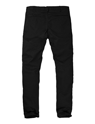 Match Men's Slim Tapered Stretchy Casual Pant (32, 8066 Black)