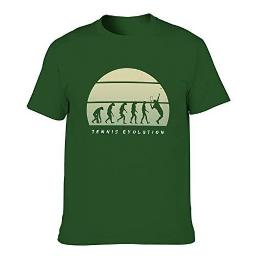 Herren Tennis Evolution Baumwolle T-Shirts - Lässig Top Dark green001 m