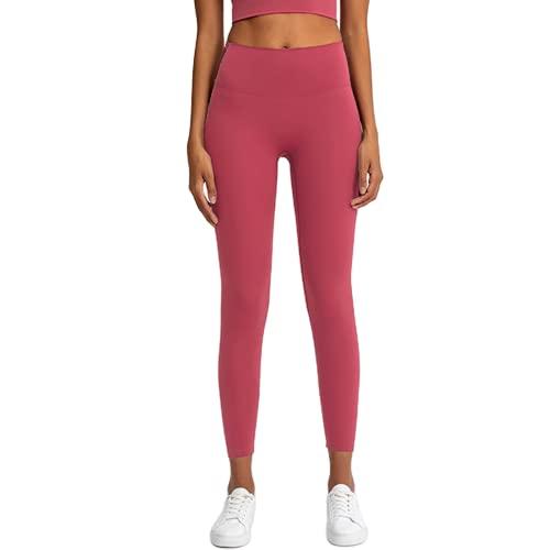 Pantalones de Yoga de Cintura Alta para Levantar la Cadera, Mallas sin Costuras de energía para Fitness para Mujeres, Mallas de Ejercicio, Pantalones para Correr DL