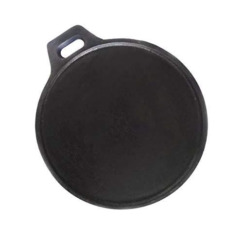 Mr. Butler Cast Iron Cookware – Roti/Dosa Tawa, Pre- Seasoned 11 Inch, Black