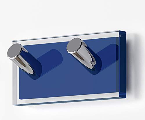Gedy Rainbow Percha, Resinas termoplásticas, Transparente Azul, Doble