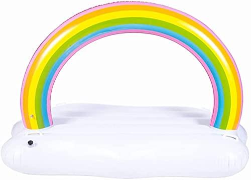 Piscinas hinchables Piscinas inflables Cama flotante en la serie de agua Suministros de juguete de agua Colchón de aire Arco iris Inflable Salón Hoverbett Playground Parque acuático ( Color : A )