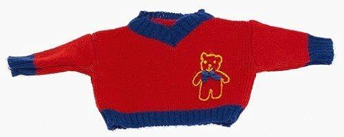 descuento online Muffy VanderBear VanderBear VanderBear ClothesLine rojo and azul Teddy Bear Logo Sweater for 8 Bear (1998) by North American Bear  calidad garantizada