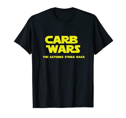 Carb Wars the Ketones Strike Back Keto Diet t-shirt funny