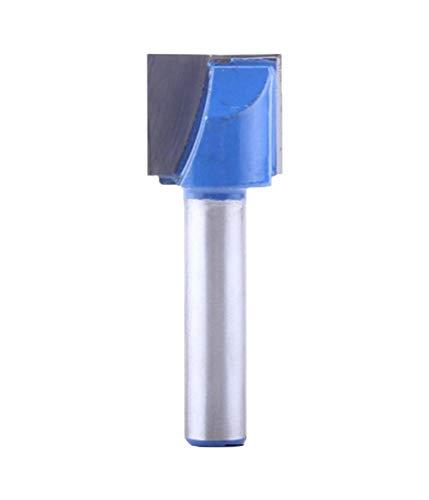 Meccion Industrielle Bodenreinigung Dado Fräserfräser 8 mm Schaft Hartmetall bestückt Gravur Bit Professionelle Holzbearbeitung Cutter Werkzeuge, silber