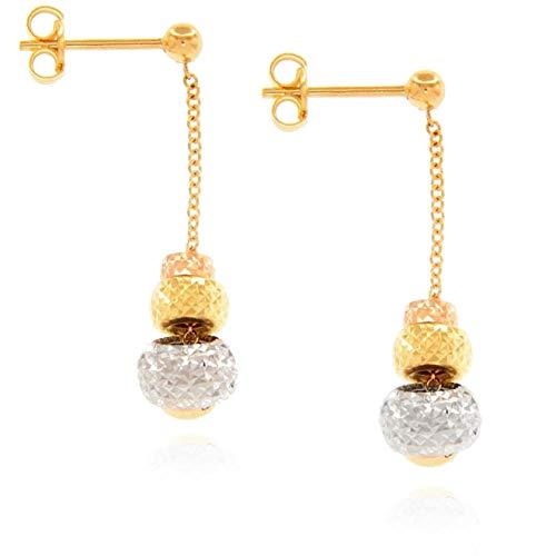Pendientes mujer joyas GioiaPura oro 750 oferta elegante cód. GP-S233762