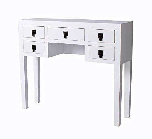 Konsolentisch Landhaus Weiss Tischkonsole Wandtisch Sideboard Flurtisch Konsole mya013 Palazzo Exklusiv